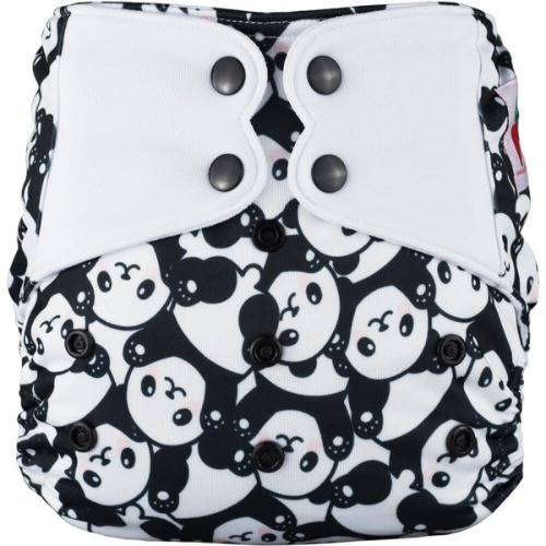 Elf Diaper (couche lavable évolutive à poche sans insert) Happy panda