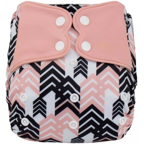 Elf Diaper (couche lavable évolutive à poche sans insert) black and pink