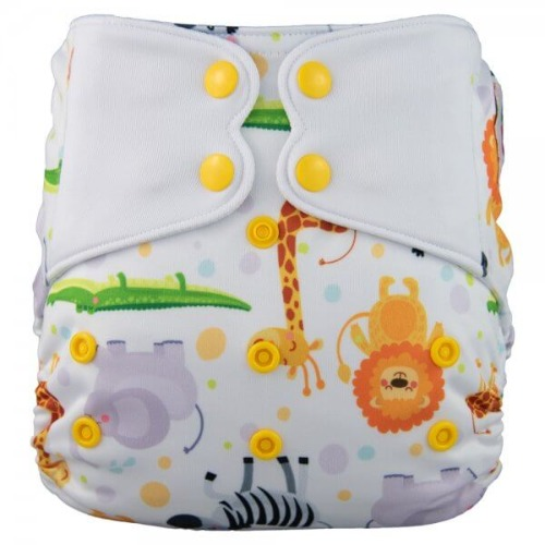 Elf Diaper (couche lavable évolutive à poche sans insert) Safari