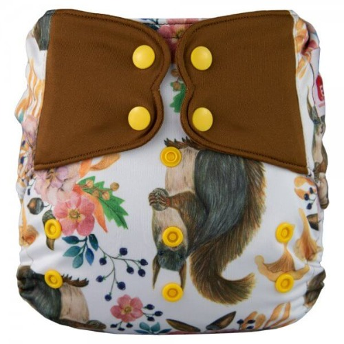 Elf Diaper (couche lavable évolutive à poche sans insert) Squirrel