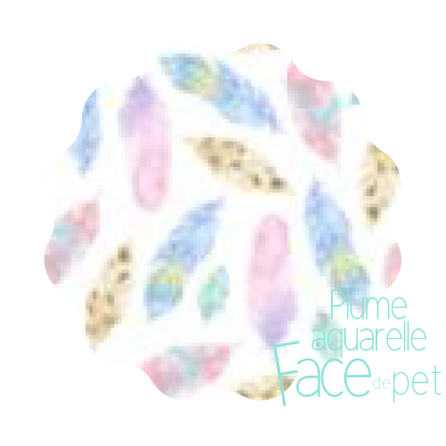 Serviette hygiénique lavable plumes aquarelle- Face de pet
