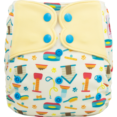 Elf Diaper (couche lavable évolutive à poche de luxe) Pet Shop à boutons-pression