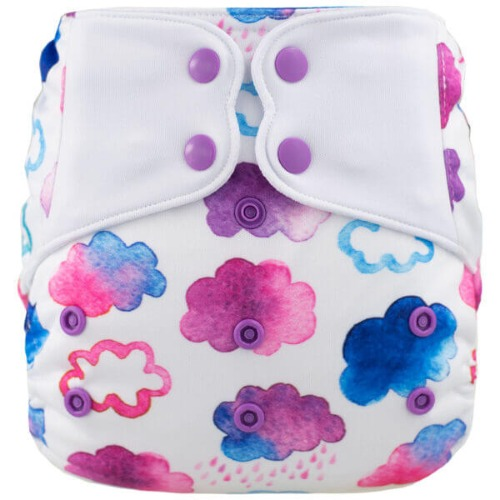 Elf Diaper (couche lavable évolutive à poche sans insert) Pink cloud