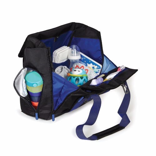 fit all-access diaper tote black cobalt démo1