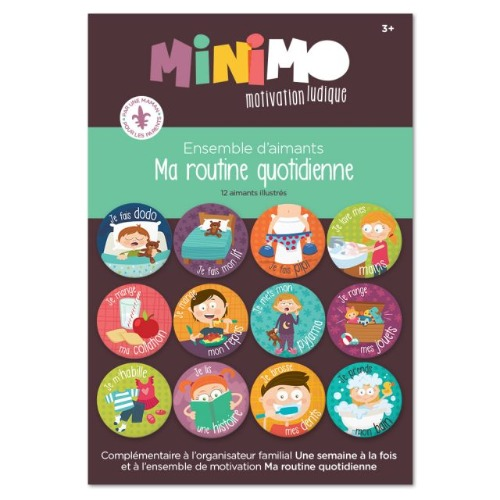 Minimo - Ma routine quotidienne (12 aimants)
