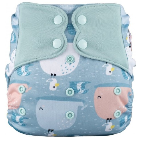 Elf Diaper (couche lavable évolutive à poche sans insert) Whale ride