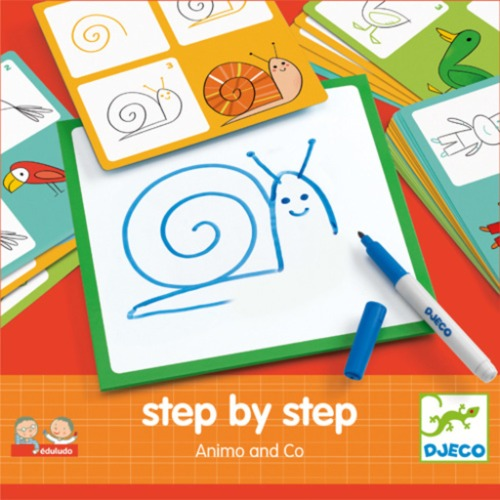 Djeco - Step by step animaux