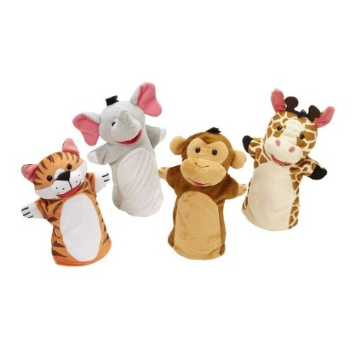 Melissa and doug - 4 Marionnettes animaux du zoo