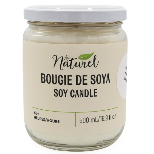 Au naturel - Chandelle de soya 500ml Citronnelle