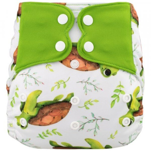 Elf Diaper (couche lavable évolutive à poche sans insert) turtle